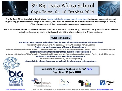Big Data Africa School – SKA SA