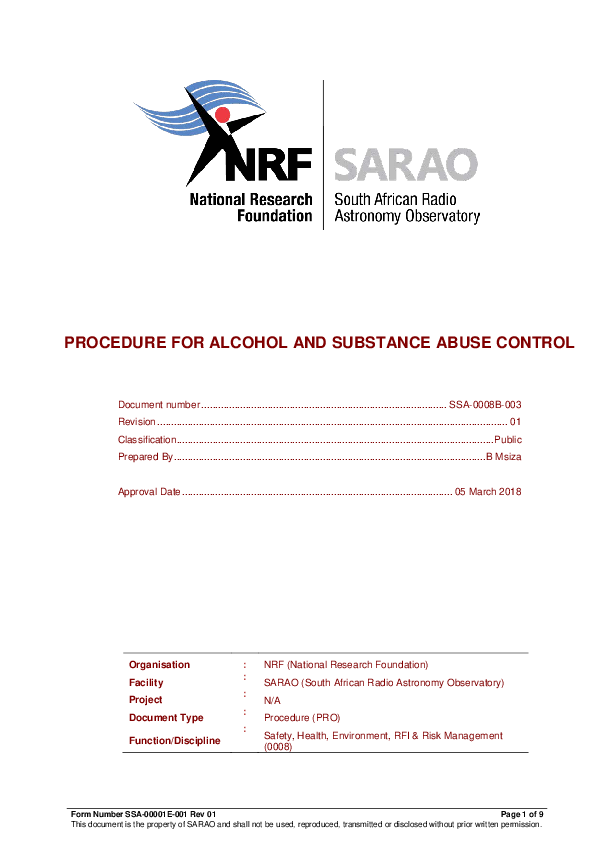 ANNEXURE F SSA-0008B-003 Rev 01 Procedure for Alcohol and Substance Abuse Control_R6 - signed.pdf
