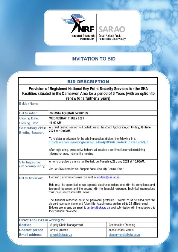 NRF SARAO SKAR 04 2021-22 - Bid Document.pdf