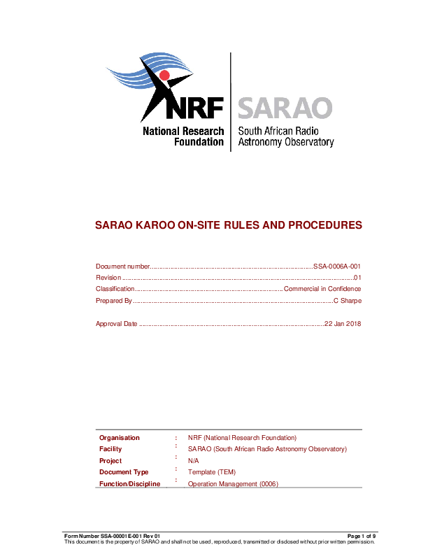 ANNEXURE C SSA-0006A-001 Rev 01 SARAO Karoo On-site Rules and Procedures BEING UPDATED .pdf