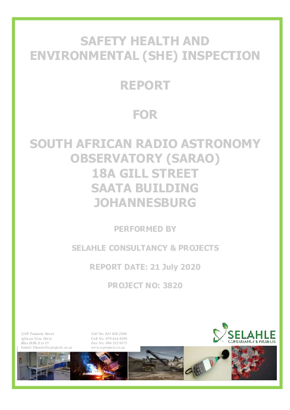 SHE Inspection Report_SARAO ( Annexure F ).pdf