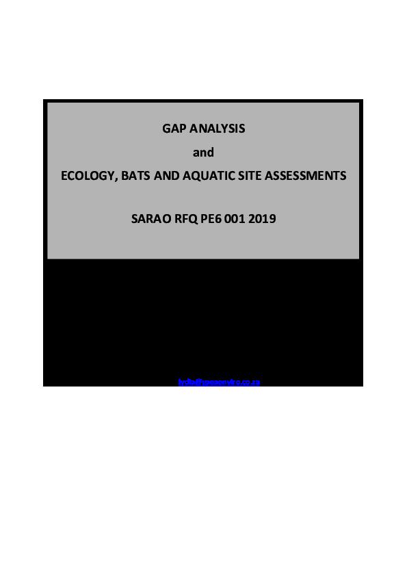 ANNEXURE V Aquatic, ecology & bat assessment.pdf