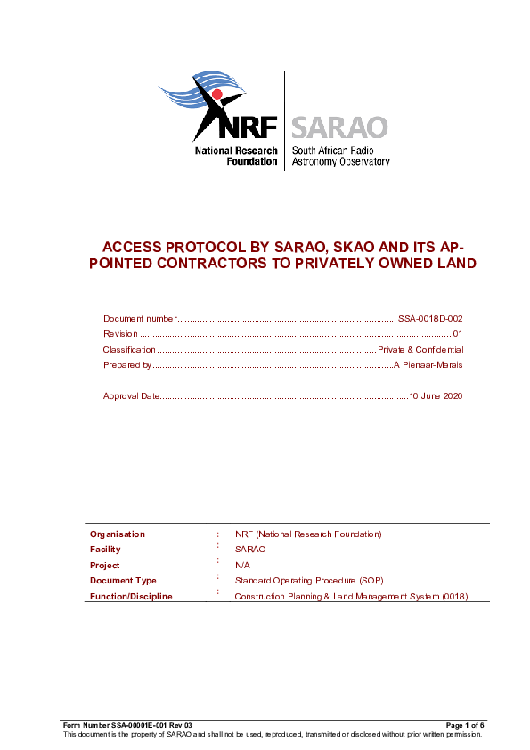 ANNEXURE R - SSA-0018D-002 Rev 01 Access Protocol Spiral Arms - signed.pdf