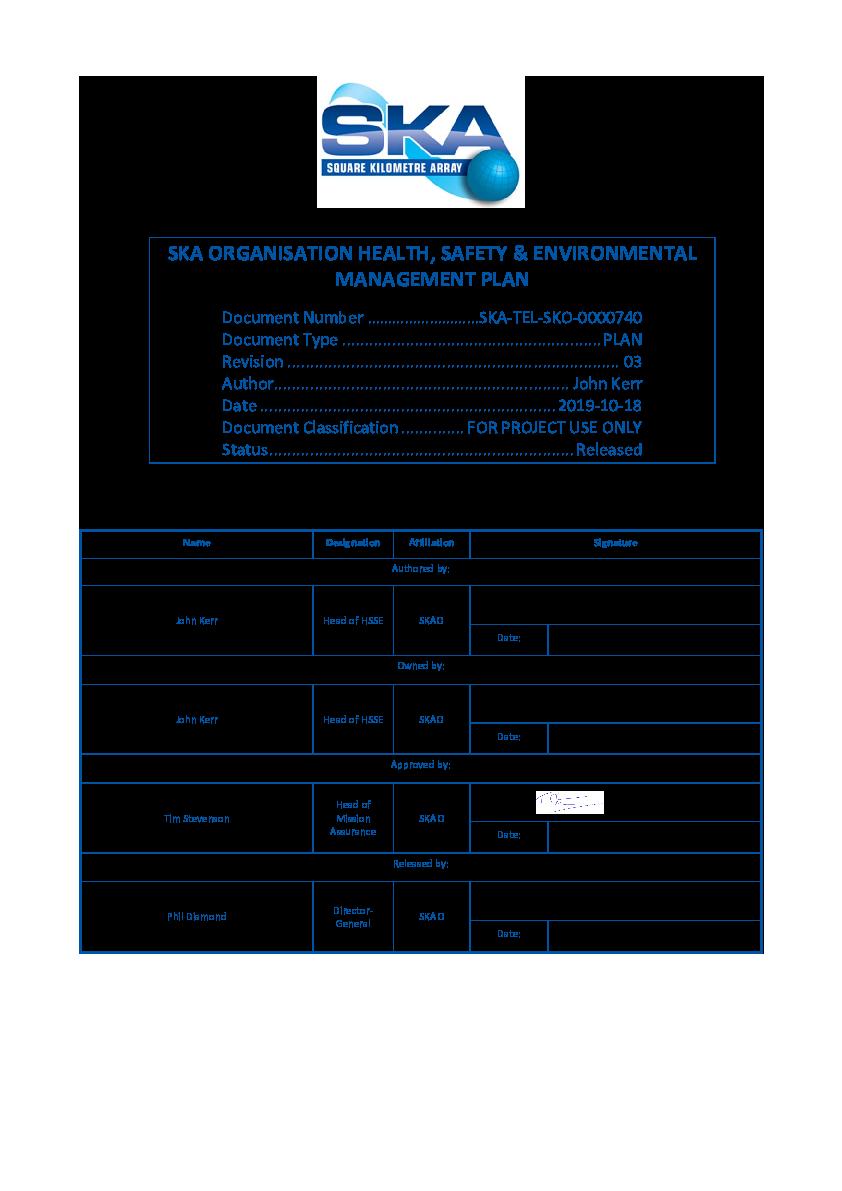 ANNEXURE S SKA-TEL-SKO-0000740-03_HSE Management Plan - signed.pdf