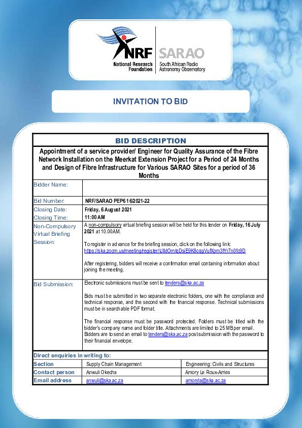 NRF SARAO PEP6 16 2021-22 - Bid Document.pdf