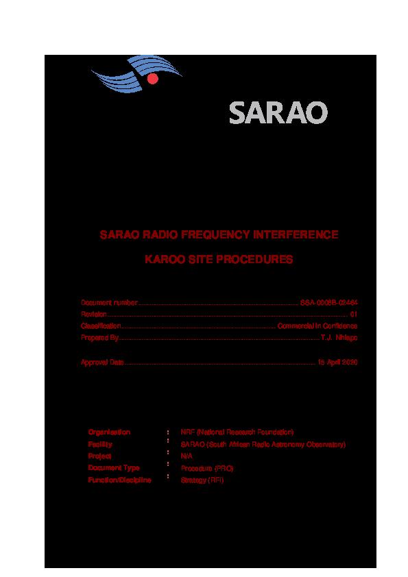 ANNEXURE H SARAO RFI Site Procedures_ Rev 01_signed.pdf