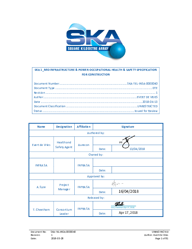 ANNEXURE N SKA-TEL-INSA-0000040 Rev 1 Health & Safety Specification South Africa example - signed.pdf
