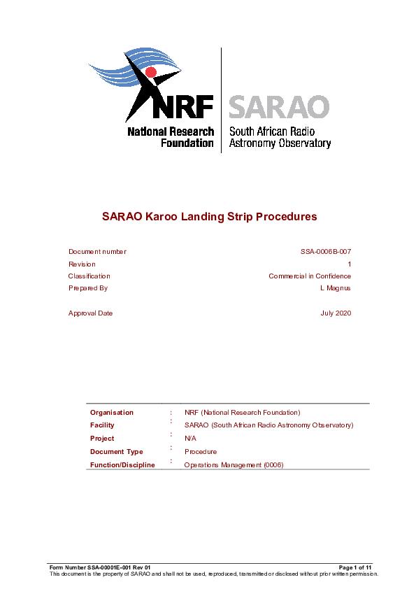 ANNEXURE Q SARAO Karoo Landing Strip Procedures.pdf