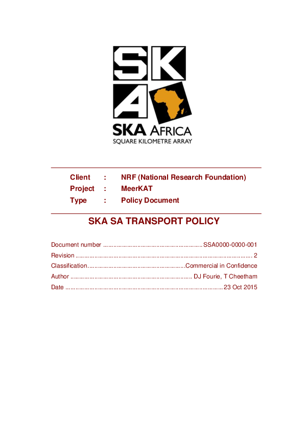 ANNEXURE E SSA0000-0000-001 Rev 2 SKA SA Transport Policy BEING UPDATED.pdf